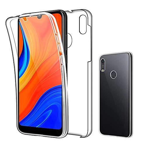 SDTEK Hülle für Huawei Y6s / Y6 (2019) Full Body Front Und Rückenschutz 360 Schutzhülle Cover Clear Transparent Soft