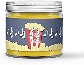 Lets Go to the Movies Candle - Vanilla - Popcorn - Caramel Scented - Made with 100% Vegan Soy Wax and Premium Fragrance - Available in 3 Adorable Sizes and Wax Tart