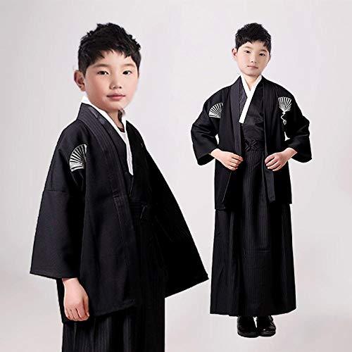 QIFENJ X Los Trajes De Los Niños Traje De Cosplay Japonesa Niños Kimono Yukata Tradicional Samurai del Traje De Halloween Ropa Niños Rendimiento Se avete domande Circa le dimensioni, Vi Prego di