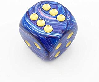 Purple Lustrous Die with Gold Pips D6 30mm (1.18in) Pack of 1 Chessex