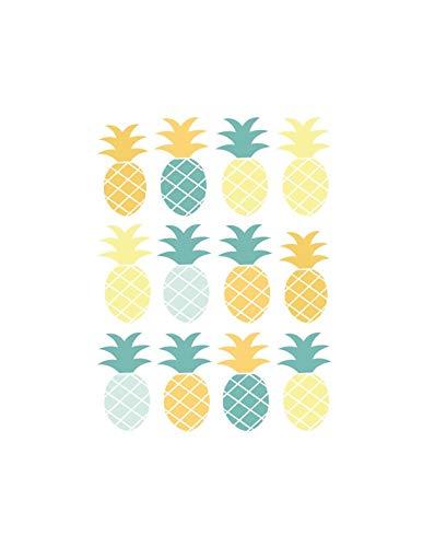DECOLOOPIO - Adesivi da Parete, Motivo: Bordatura Ananas, Colore: Verde