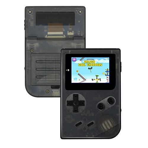 Anbernic Console Giochi Portatile , Console per Videogiochi Retro TV Console di Gioco per Giochi da 2.0 Pollici con 548 Giochi Classici per Bambini Regalo di YLM (Nero Trasparente)