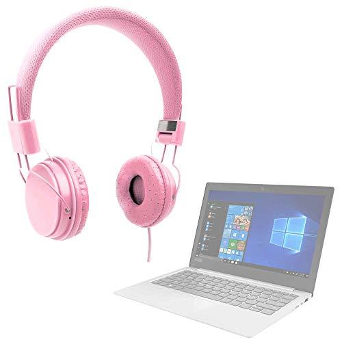 DURAGADGET Auriculares De Diadema Color Rosa para Portátil Lenovo IdeaPad 120S-14IAP, Lenovo IdeaPad 120S-11IAP, Lenovo Ideapad 720S-13IKB