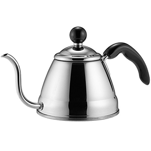Fino Pour Over Coffee Kettle, 4 1/4 Cup, Silver