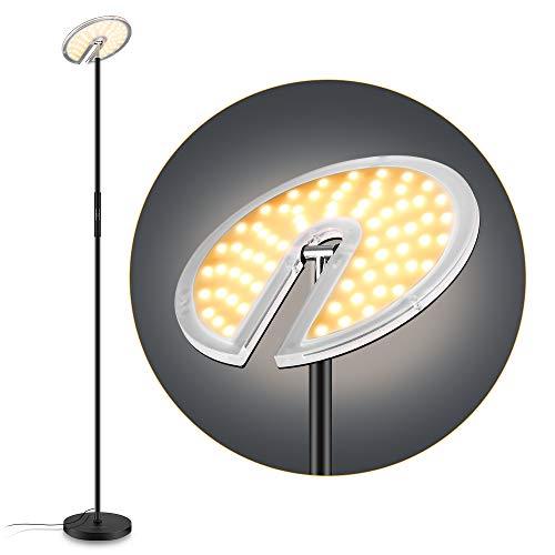 Stehleuchte, PAVLIT 30W Uplighter-Stehleuchten, moderne, stufenlos dimmbare LED-Leseleuchte für die Augenpflege im Wohnzimmer, 3 Farbtemperaturen, einstellbare Helligkeit