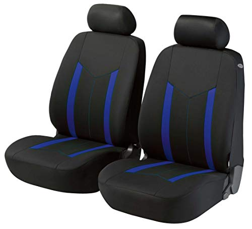 Walser Zipp-IT Basic Hastings blau Auto Sitzbezüge für Vordersitze mit Reissverschluss System