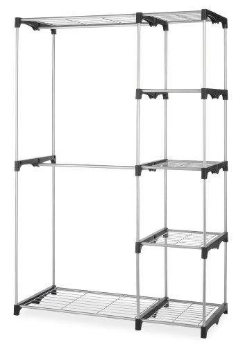 Whitmor Double Rod Freestanding Closet Heavy Duty Storage Organizer