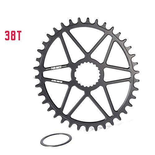 ZHTY Ajuste para Plato Ovalado 0Mm Offset MTB Rueda de Cadena de Bicicleta Estrecha y Ancha para XT M7100 M8100 M9100 12S bielas