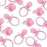 8-teiliges Deko-Set * Baby Girl - Schnuller Alarm * als Tischdeko zur Geburt oder 1. Geburtstag eines Mädchens | Streudeko Hängedeko rosa pink