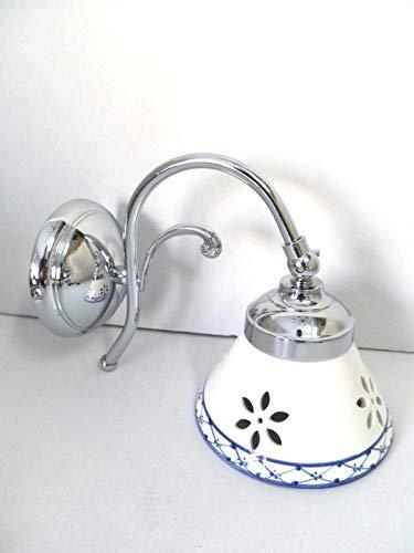 Applique in ottone cromato Bagno parete Camera da letto con ceramica bianca