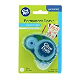 Glue Dots Permanent Dot N' Go Dispenser with 200 (.375 Inch) Permanent Adhesive Dots (11346)
