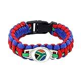 JJZHY Handgewebte Südafrika Football Flag Regenschirm Griff Geschenke Fans,Südafrika,S