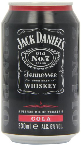 Jack Daniel's Tennessee Whiskey and Cola Premixed Cans 12 x 330ml