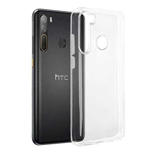 ROVLAK Hülle für HTC Desire 20 Pro Case Silikon Ultradünne Leichte Handyhuelle Kristallklare Tasche Stoßfeste Kratzfeste Transparente Schutzhuelle TPU Handytasche für HTC Desire 20 Pro