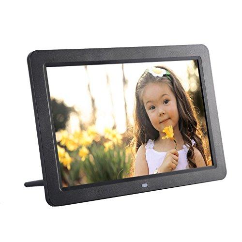 LESHP Marco Digital de Fotos (pantalla TFT-LCD de 12'', reproduce videos y músicas, mando a distancia), negro