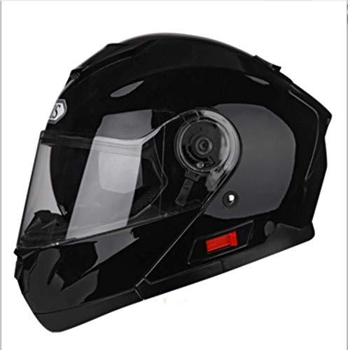 WGFGXQ Motorrad-Integralhelm DOT-Zertifizierung, Straßenrennmotorrad Helm Cromwell Helm Jet Doppelspiegel Modular Flip Helm (M, L, XL, XXL), XXL