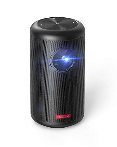 "Nebula Capsule II Smart Mini Projector, by Anker, 200 ANSI Lumen 720p HD Portable Projector with Wi-Fi, DLP, Android TV 9.0, 8W Speaker, 100"" Image, 5,000+ Apps, Movie Projector, Home Entertainment"