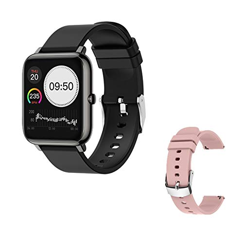 YNLRY Smart Watch Waterproof Fitness Sport Watch P22 Rastro del Corazón Rastreador Call/Message Recordatorio Bluetooth Smartwatch para Android iOS (Color : P22 Touchable Strap)