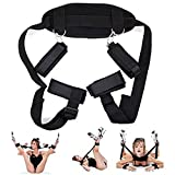 Bed Bóńdágê Rêštráints Kit Set for Sê&x for Couples Adult Women ündęr Będ Straps System wîth Soft Wrîṣt Anklę Cüffṣ Handcüffṣ for ṣê&x Ręṣtraînîng Set for Couples, Adjustable, Bedroom Play