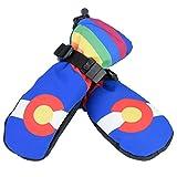 DSJSP Soft Square Poliéster Niños Esquiando Caliente Transpirable Impermeable Protección Guantes Azul L