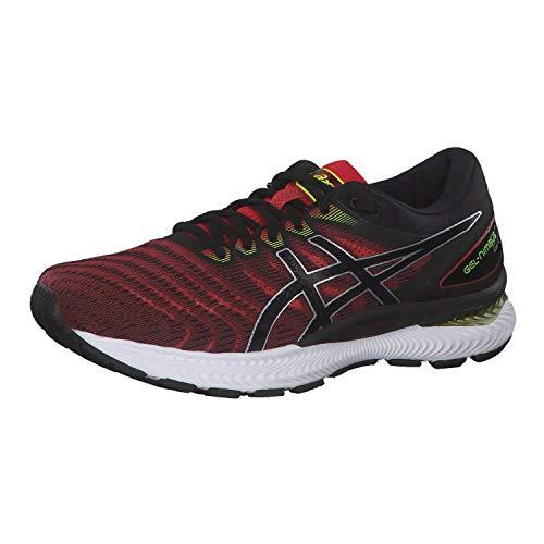 ASICS Herren Gel-Nimbus 22 Running Shoe, Klassisches Rot/Schwarz, 43.5 EU