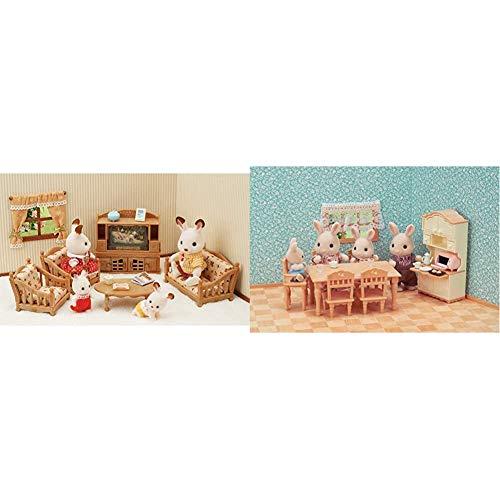 Sylvanian Families - 5339 - Set de salón de hogar + 5340 - Set Comedor