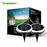 Solar LED Garden Lights Outdoor In-ground Lights Landscape Lighting 7 Color Changing Stainless Steel Pathway Lights for Walkway Patio Yard Lawn Driveway Flowerbed Courtyard Decoration,colorful (4Pack)