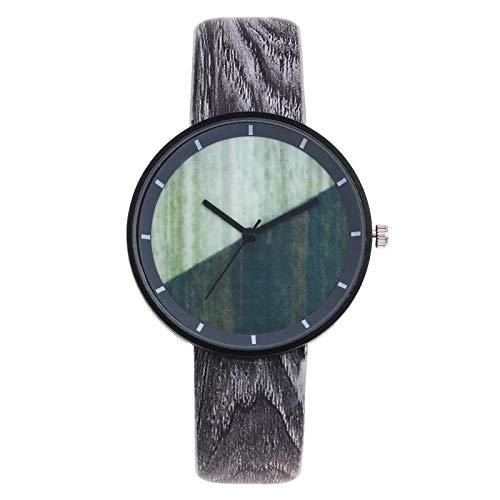 SSLA Vintage Wood Bambos Grano Personalidad Creativa Personalidad Analógica Muñeca Relojes Análogos Mujeres Dimandos Rhinestone Relojes analógicos Regalos para Mujeres (Size : 5)