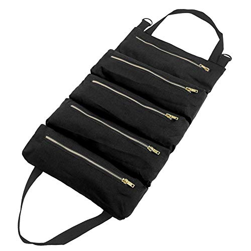 Euopat Auto Stoel Tool Tas, Achterbank Auto Organiser Boot Organisator, Auto Stoel Terug Hardware Opslag Tool Canvas Roll Plier Schroevendraaier Spanner Bag