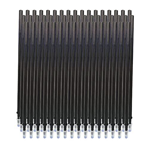 Aibecy - Recambio para bolígrafo de tinta de gel borrable de 0,5 mm, 50 unidades, color negro Black-Pack of 50