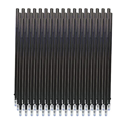 Aibecy Recambios de bolígrafo de tinta de gel borrable de tinta negro Recambios de bolígrafo de gel de repuesto de punta fina de 0,5 mm para bolígrafos borrables,50 piezas