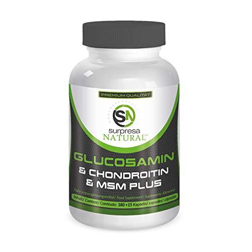Surpresa Natural® - Glucosamin + Chondroitin & MSM - 195 hochdosierte Kapseln | 100% natürliches Produkt | ohne Zusätze | Premium Supplement