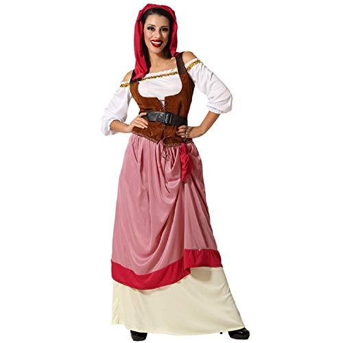 Déguisement Femme Paysanne Médiévale Rose