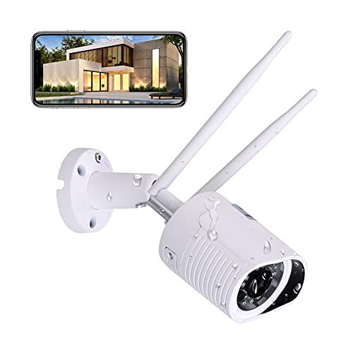 Überwachungskamera Aussen,HiKam A7 NEU für außen, Support in Deutschland | Personenerkennung | Alexa kompatibel | Outdoor IP WLAN Kamera Aussen APP | HD WiFi Camera | Datensicherung und Cloud in DE