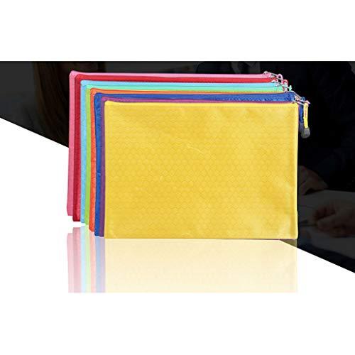 Estuche,Bolsa de archivo con diseño de fútbol A4 de cinco piezas con buena relación calidad-precio,bolsa de PVC con cremallera Oxford,impermeable y resistente al desgaste,34x24 cm de gran capacidad ⭐