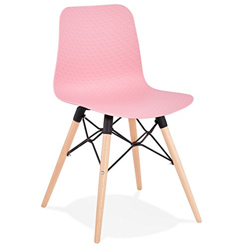 Alterego Chaise scandinave 'Tonic' Rose Design