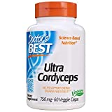 Doctor's Best Ultra Cordyceps, 750Mg - 60 Vcaps 60 Unidades 80 g