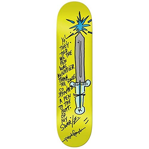 Krooked Skateboard Deck Gonz Pen Mighty 8.06 x 31.8