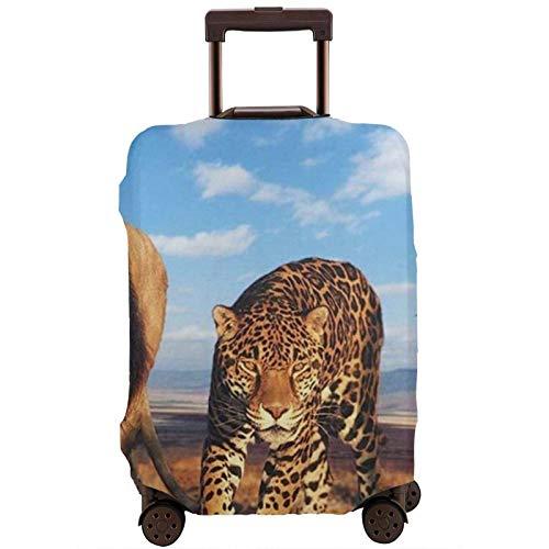 Funda elástica para equipaje de viaje con estampado de leopardo de los leones, para maleta de 45 a 81 cm
