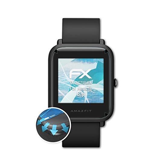 atFoliX Protecteur d'écran Compatible avec Amazfit Bip Film Protecteur, Ultra Clair et Flexible FX Film Protection d'écran (3X)