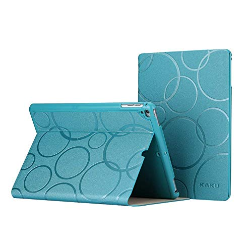 ZKUROZOXY Case for iPad 9.7inch 2018 2017 iPad Pro 9.7 iPad Air 2 iPad Air 1 Slim PU Leather Smart Cover Folio Case Stand Protective Case with Auto Wake - Sleep for Apple iPad (Blue)