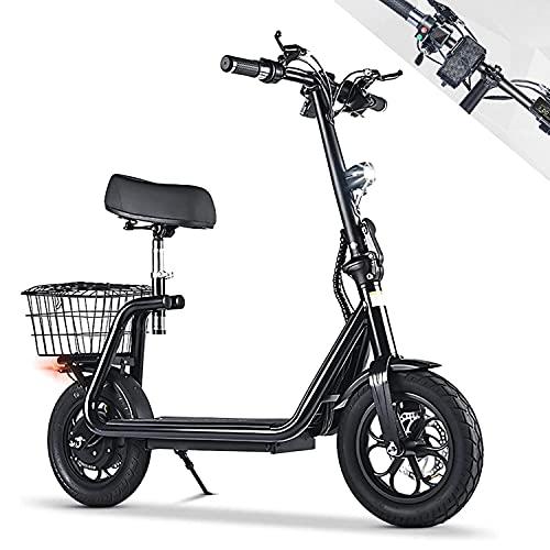 monopattino elettrico sella Monopattino Elettrico con Sella 500W Scooter Pieghevole Autonomia 35Km velocità Massima Fino a 40Km/h
