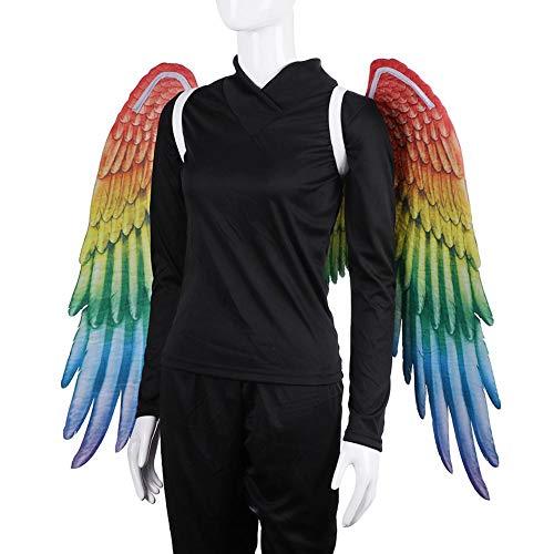winnerruby Erwachsene Unisex Rainbow Feather Wings Homosexuell Parade Zubehör Kostüm Boas -105x75cm