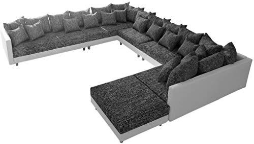 Couch Clovis XXL Wohnlandschaft modular Design Sofa