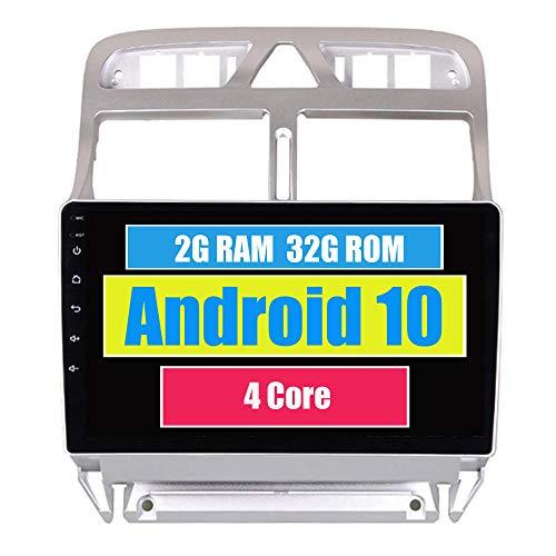 RoverOne Autoradio per Peugeot 307 2002-2013 con Navigazione GPS Android Touchscreen Stereo Bluetooth Wifi USB Mirror Link