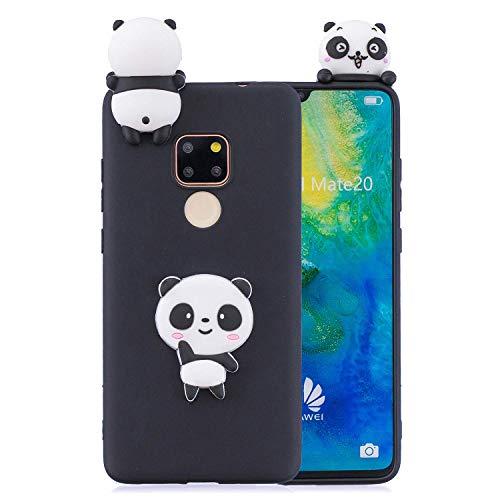 HongYong - Funda para Huawei Mate 20 Pro de silicona con dibujos en 3D, color negro, con diseño de animal, divertida, de goma suave, antigolpes y protectora