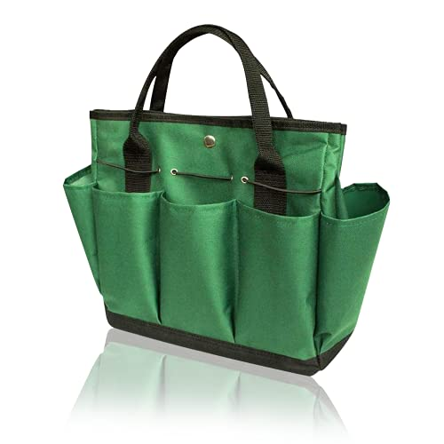 Photo of YGYQZ Gardening Tool Storage Bag with 9 Pockets – Gardening Gifts for Women, Garden Tool Holder Tote Bag Heavy Duty for Tool Set, Kit, Indoor and Outdoor, Organiser (Green)