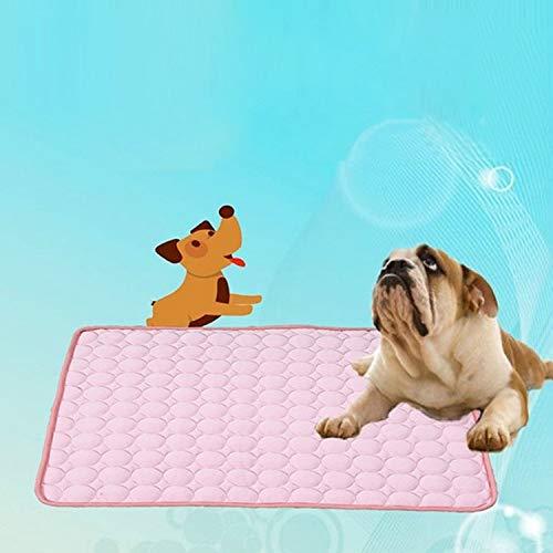 Haustierbedarf, Matten Hundekissen Bett Sommer Kühlmatten Decke EIS Hund Katze Bettmatten für Auto Größe: 102x70 cm Sunshine20. (Color : Pink)