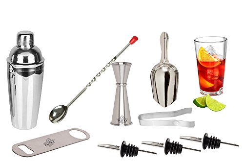 Taluka Stainless Steel Bar Set, 750 Ml, Silver, Pack of 9
