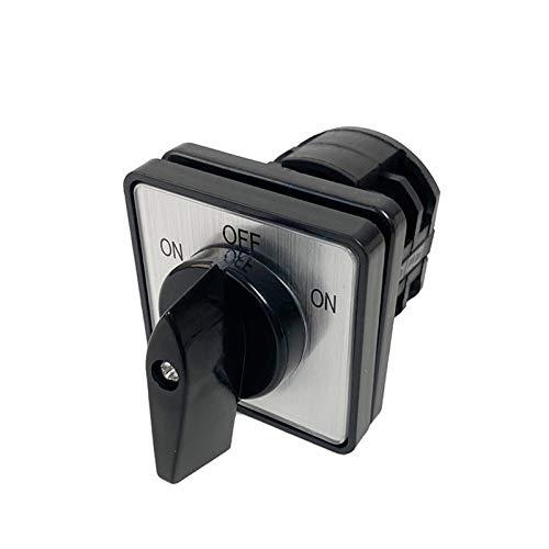 Kfdzsw Interruptor Giratorio Electric LW8-10/2 ON-Off-ON Cambio Cambio ROTARIO DE CAM 660V 10A 2 Polos 3 Posición 8 Terminales Contacto de Plata